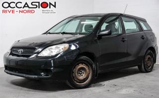 Used 2008 Toyota Matrix Manuelle+A/C for sale in Boisbriand, QC