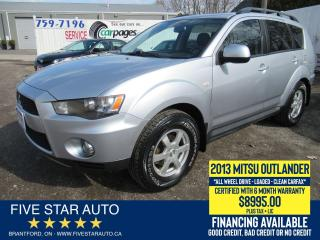 Used 2013 Mitsubishi Outlander ES *Clean Carfax* Certified w/ 6 Month Warranty for sale in Brantford, ON