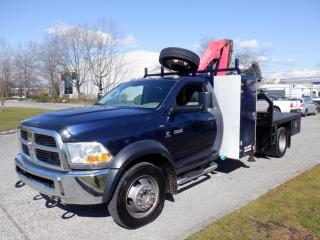 Used 2012 Dodge Ram 5500 Regular Cab 4WD Flat Deck 8 foot Crane Truck Diesel for sale in Burnaby, BC