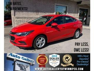 Used 2018 Chevrolet Cruze LT *MB Unit/Bluetooth/Back.Cam for sale in Winnipeg, MB