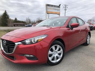 Used 2018 Mazda MAZDA3 GX Auto with BackupCam, Cruise and Bluetooth! Pwr Windows, Keyless Entry, Air and Steering Wheel Contro for sale in Kemptville, ON