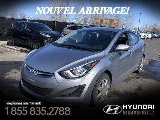 Used 2015 Hyundai Elantra GL + GARANTIE + A/C + CRUISE + BLUETOOT for sale in Drummondville, QC