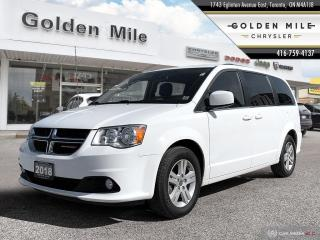 Used 2018 Dodge Grand Caravan Crew Plus|Clean Carfax|Alloys|Leather|Back up Cam| for sale in North York, ON
