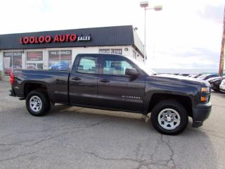 Used 2014 Chevrolet Silverado 1500 Work Truck No Accident Double Cab 4WD 4.3L Certified for sale in Milton, ON