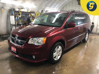 Used 2017 Dodge Grand Caravan Crew Plus * Leather-faced bucket seats with perforated inserts * 6.5-inch touchscreen AM/FM/CD/Hard-drive * ParkView Rear Back-Up Camera *  Power lumb for sale in Cambridge, ON