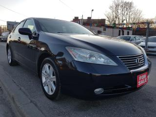 Used 2009 Lexus ES 350 MINT-118K ONLY-NAVI-BK  CAM-SUNROOF-LEATHER-ALLOYS for sale in Scarborough, ON
