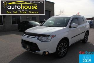 Used 2015 Mitsubishi Outlander GT S-AWD /LEATHER /SUNROOF /7PASS /LANE DEPARTURE /BACK CAME for sale in Newmarket, ON