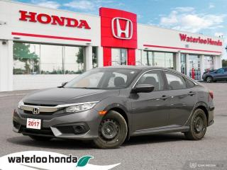 Used 2017 Honda Civic Sold Pending Customer Delivery! Accident Free Civic LX! Tires and Brakes in Great Condition! Certifi for sale in Waterloo, ON