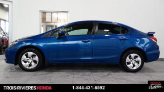 Used 2015 Honda Civic LX + GARANTIE 6/100 + BLUETOOTH ! for sale in Trois-Rivières, QC