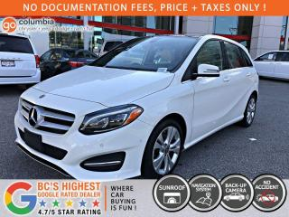 Used 2018 Mercedes-Benz B-Class B 250 Sports - Nav / Leather / Dual Pane Sunroof / Local / No Accident for sale in Richmond, BC