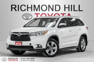 Used 2016 Toyota Highlander *No Payments for 6 Months!!! - Limited for sale in Richmond Hill, ON