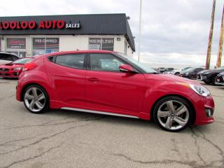 Used 2013 Hyundai Veloster TURBO 6 SPEED MANUAL NAVIGATION CERTIFIED for sale in Milton, ON