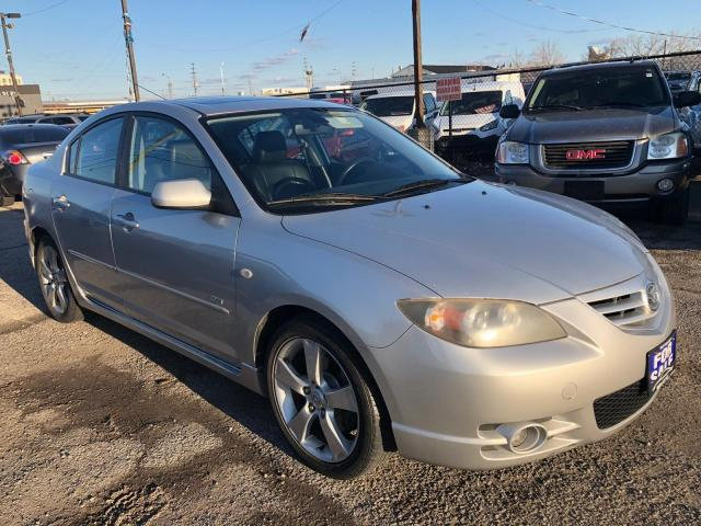 2004 Mazda MAZDA3 GT, ONE OWNER, LEATHER, 3 YR WARRANTY, CERTIFIED
