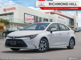 New 2020 Toyota Corolla Hybrid Base  - Hybrid -  Heated Seats - $97.35 /Wk for sale in Richmond Hill, ON