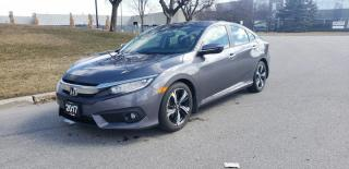 Used 2017 Honda Civic Sedan 4dr CVT Touring | Navigation | Back Up Camera for sale in Vaughan, ON