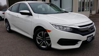 Used 2017 Honda Civic LX Sedan 6MT -BACK-UP CAM! HEATED SEATS! ACCIDENT FREE! for sale in Kitchener, ON