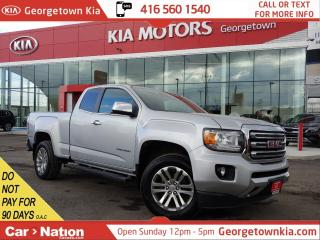 Used 2015 GMC Canyon SLT | V6 | LEATHER | ONLY 68,774KM | BOX LINER|B/T for sale in Georgetown, ON