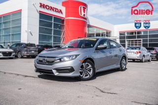 Used 2016 Honda Civic GARANTIE LALLIER MOTO-PROPULSEUR 10ANS/200,000 KIL 02404A   ARGENT for sale in Terrebonne, QC