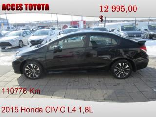 Used 2015 Honda Civic EX for sale in Rouyn-Noranda, QC