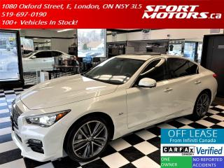 Used 2016 Infiniti Q50 3.0T Sport PKG AWD+GPS+360 Camera+Accident Free for sale in London, ON