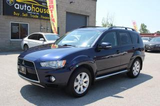 Used 2013 Mitsubishi Outlander 4WD,LEATHER,SUNROOF,7PASS,BACKUP CAMERA for sale in Newmarket, ON