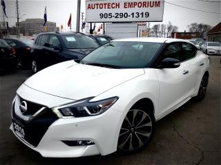 Used 2016 Nissan Maxima SR Prl White Navigation/Htd Seats/Remote Start/Camera/BT&GPS* for sale in Mississauga, ON