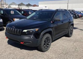 Used 2019 Jeep Cherokee TRAILHAWK 4X4 *CUIR*TOIT*GPS*HITCH* for sale in Brossard, QC