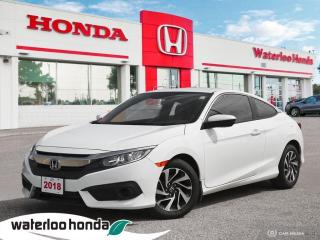 Used 2018 Honda Civic Accident Free, One Owner Rare Civic Coupe LX! Certified Powertrain Warranty Until 11/12/2025 or 160, for sale in Waterloo, ON