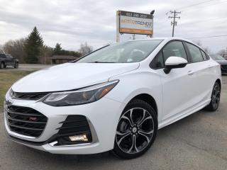Used 2019 Chevrolet Cruze LT RS Package! AutoStart, Heated Seats, BackupCam, Bluetooth, Pwr Seat, Alloy Wheels and More! for sale in Kemptville, ON