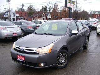 Used 2010 Ford Focus SE,ONE OWNER,AUTO,NO ACCIDENT, LOW KM'S,CERTIFIED, for sale in Kitchener, ON