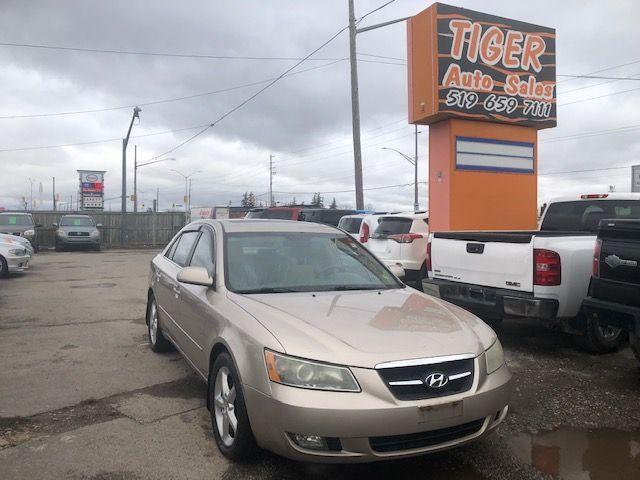 2007 Hyundai Sonata GLS**LEATHER**V6**ONLY 175KMS**RUNS WELL**AS IS