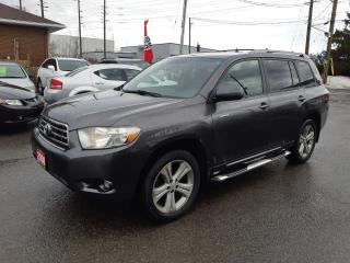 Used 2008 Toyota Highlander Sport, V6, 7 PASS, LEATHER, BACKUP CAMERA, 159 KM for sale in Ottawa, ON