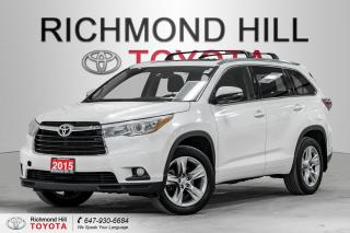 Used 2015 Toyota Highlander AWD 4DR LIMITED for sale in Richmond Hill, ON