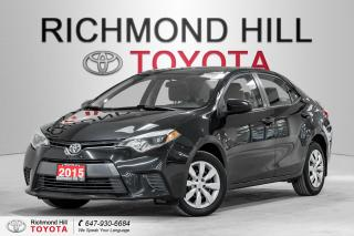 Used 2015 Toyota Corolla 4dr Sdn CVT LE for sale in Richmond Hill, ON
