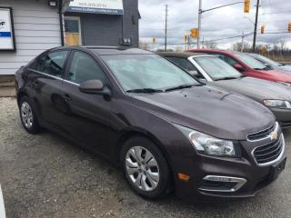 Used 2015 Chevrolet Cruze 4dr Sdn 1LT, back up camera, bluetooth, warranty for sale in Halton Hills, ON