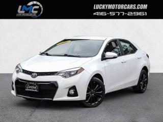 Used 2015 Toyota Corolla S SPORT-CAMERA-LEATHER-1 OWNER-80KMS for sale in Toronto, ON