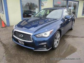 Used 2018 Infiniti Q50 ALL-WHEEL DRIVE 'S-EDITION' 5 PASSENGER 3.0L - TURBO.. LEATHER.. HEATED SEATS.. NAVIGATION.. POWER SUNROOF.. BLUETOOTH SYSTEM.. BACK-UP CAMERA.. for sale in Bradford, ON