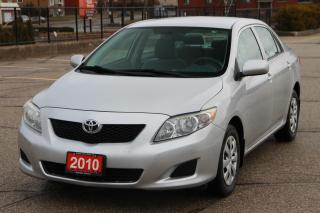 Used 2010 Toyota Corolla NO Accident  | AC | Power Windows | CERTIFIED for sale in Waterloo, ON