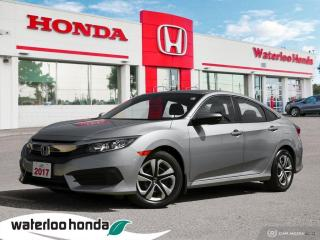 Used 2017 Honda Civic Accident Free, One Owner Civic LX Leased New Right Here at Waterloo for sale in Waterloo, ON