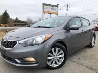 Used 2015 Kia Forte 2.0L LX+ Hatch with Heated Seats and Bluetooth! Pwr Windows, Cruise, Air, Alloy Wheels and Fog Lights! for sale in Kemptville, ON