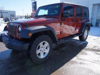 Used 2014 Jeep Wrangler Unlimited UNLIMITED SPORT/POWEROPTIONS/AC/HARDTOP/5SPEEDAUTO for sale in Edmonton, AB