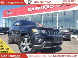 Used 2016 Jeep Grand Cherokee Limited | LEATHER | ROOF| NAVI | BU CAM|P/GATE| BT for sale in Georgetown, ON