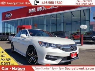 Used 2017 Honda Accord Sedan Sport | ROOF | BU CAM |LANE DEPART| COLL AVOIDANCE for sale in Georgetown, ON