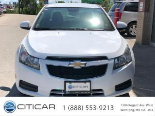 Used 2013 Chevrolet Cruze 2013 Chevrolet Cruze LT Turbo*CAM*BLUETH*SAT*CLEAN for sale in Winnipeg, MB