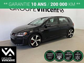 Used 2016 Volkswagen Golf GTi AUTOBAHN GPS TOIT ** GARANTIE 10 ANS ** Très bas kilomètrage, comme neuf! for sale in Shawinigan, QC