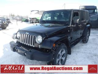 Used 2016 Jeep Wrangler Unlimited Sahara 4D Utility 4WD 3.6L for sale in Calgary, AB