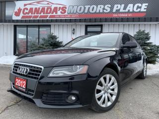 Used 2012 Audi A4 2.0T QUATTRO | AWD |  MEDIA CENTRE | BLUETOOTH | S for sale in Barrie, ON
