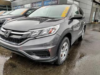 Used 2016 Honda CR-V LX **TRÈS BAS MILLAGE** JAMAIS ACCIDENTÉ for sale in St-Eustache, QC