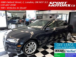 Used 2017 Audi A4 Progressiv+GPS+Camera+Blind Spot+Accident Free for sale in London, ON