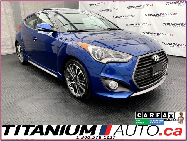 2016 Hyundai Veloster Turbo Tech+GPS+Pano Roof+Leather+Camera+BK Sensors